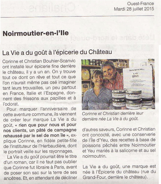 Article Ouest France 28:7:15